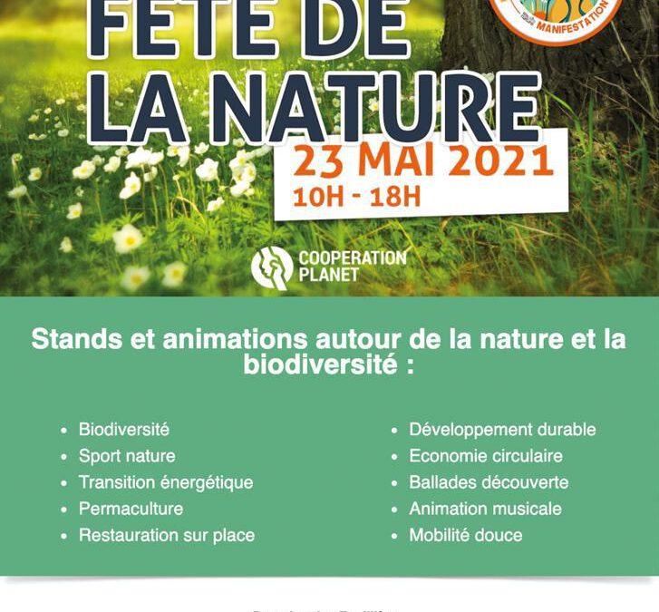 affiche de la fête de la nature - Aubagne 23 mai 2021